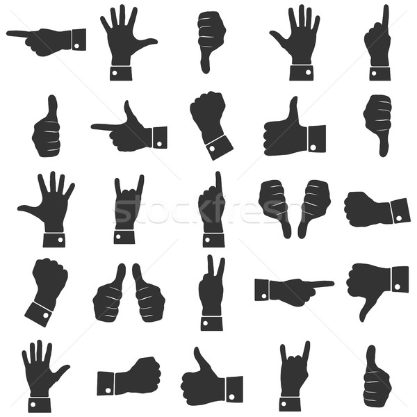 Icons hands vector Stock photo © kup1984
