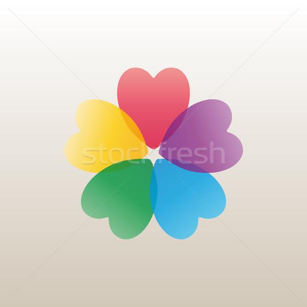 дизайн логотипа шаблон цветок бутон ярко лепестков Сток-фото © kup1984