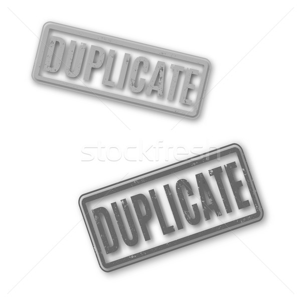 Rectangular stamp duplicate, vector illustration. Stock photo © kup1984
