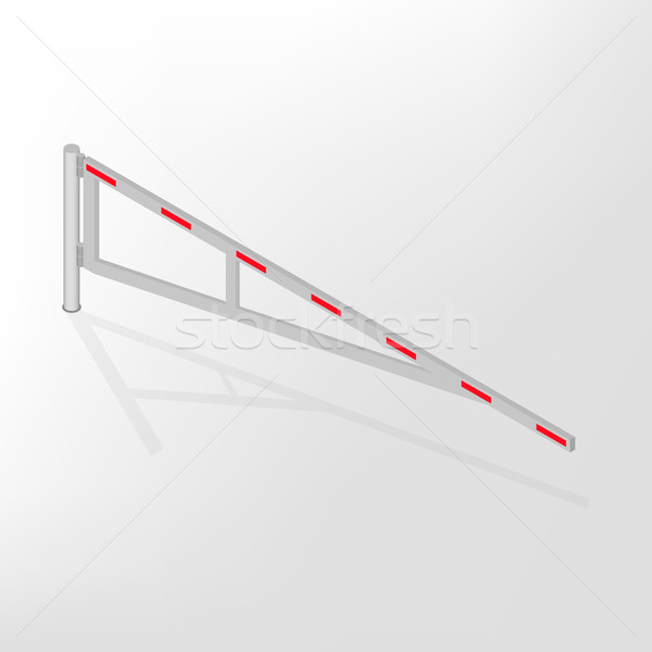 Mechanical barrier isometric, vector illustration. Stock photo © kup1984