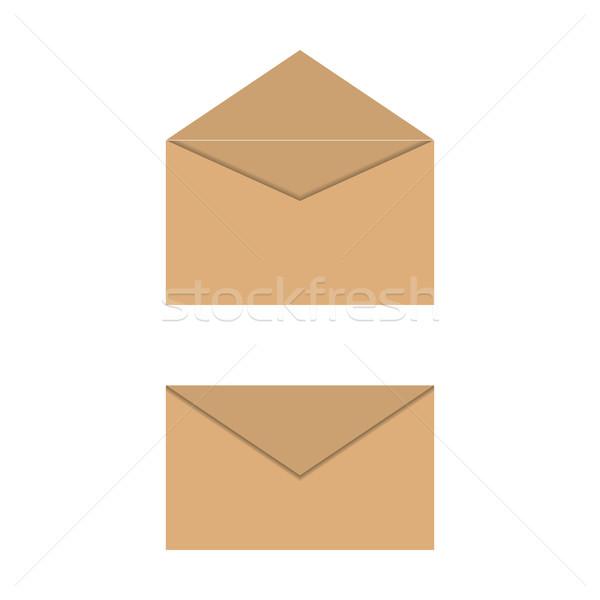Yellow paper envelopes, vector illustration. Stock photo © kup1984
