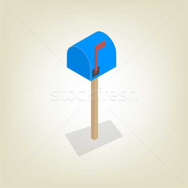 Americano mailbox isometrica colorato isolato bianco Foto d'archivio © kup1984