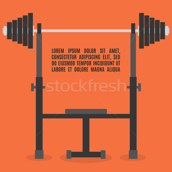 Barbell bench press in flat style, vector illustration. Stock photo © kup1984