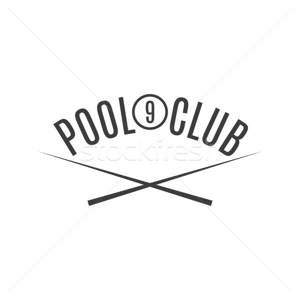 Emblem billiard club, vector illustration. Stock photo © kup1984