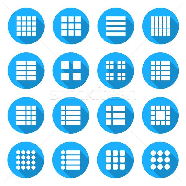 Icons menu list, vector illustration Stock photo © kup1984