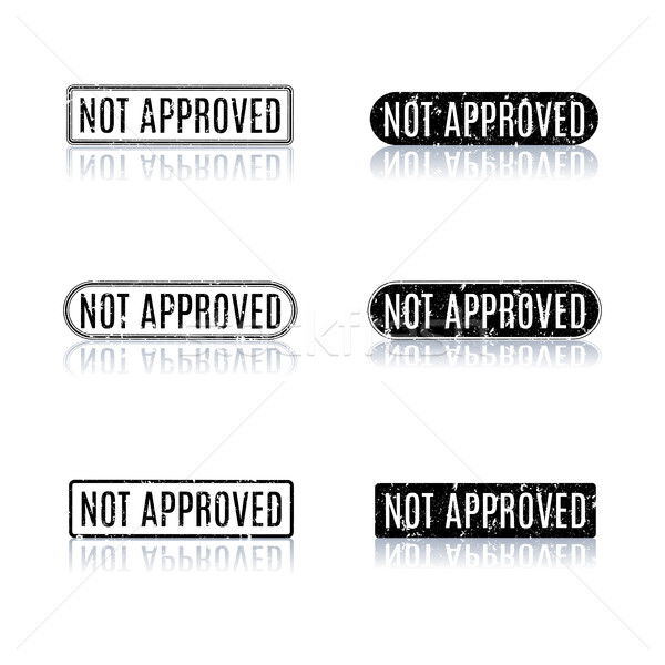 A set of stamps not approved, vector illustration. Stock photo © kup1984
