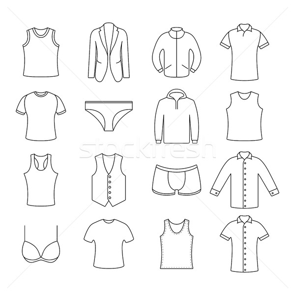 Icons clothes, vector illustration. Stock photo © kup1984