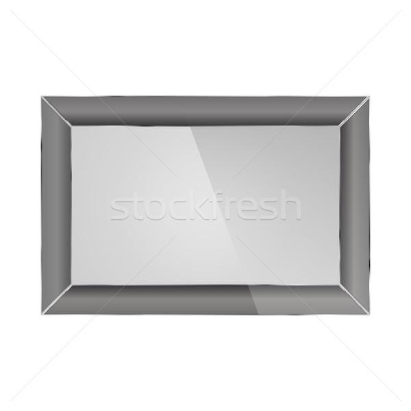Realistic photo frame, vector illustration. Stock photo © kup1984