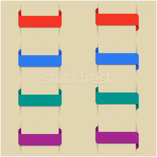 Szett színes könyvjelzők különböző második terv Stock fotó © kup1984