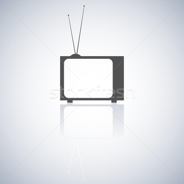 The TV icon, vector illustration. Stock photo © kup1984