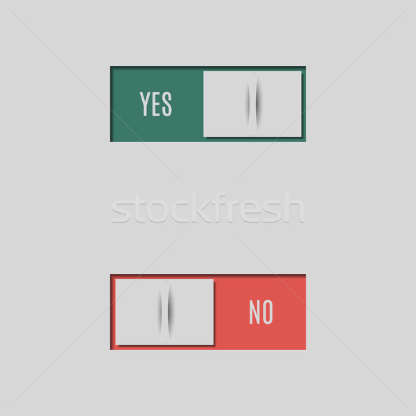 A set of buttons and switches, vector illustration. Stock photo © kup1984