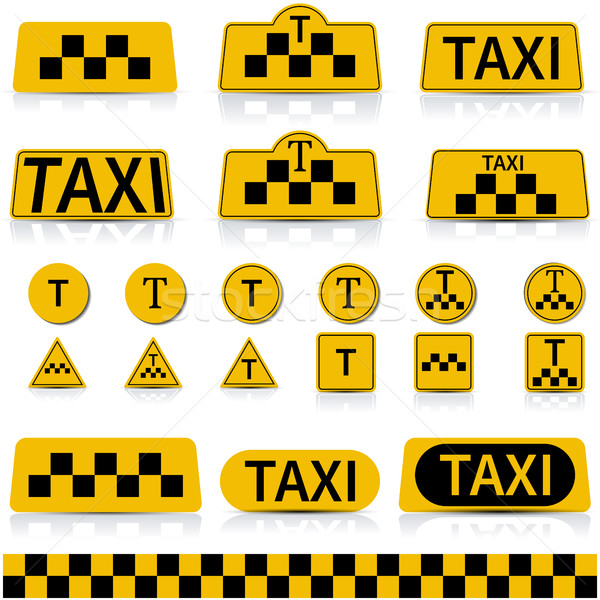 Set sign taxi , vector illustration. Stock photo © kup1984