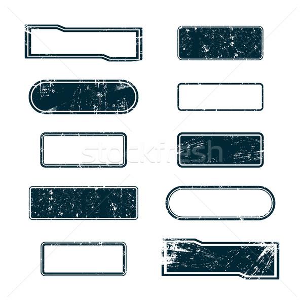 Set of grunge frames, vector illustration. Stock photo © kup1984
