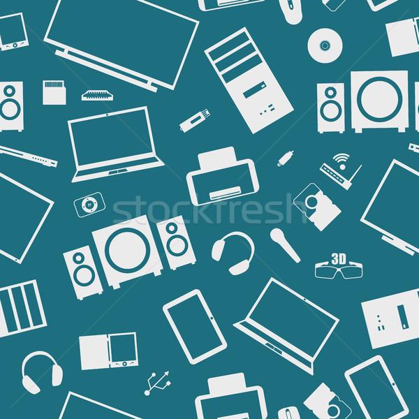 бесшовный цифровой набор компьютер интернет Сток-фото © kup1984