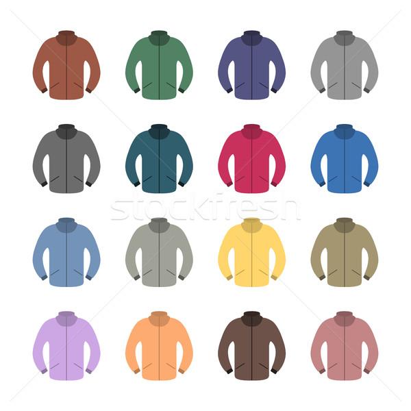Zestaw kolorowy szesnaście stylu odizolowany biały Zdjęcia stock © kup1984