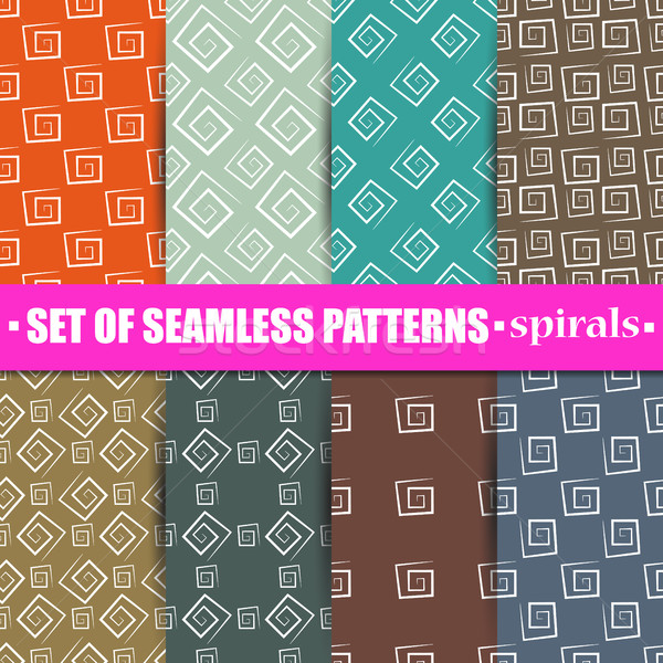 Set of abstract seamless background, vector illustration. Stock photo © kup1984