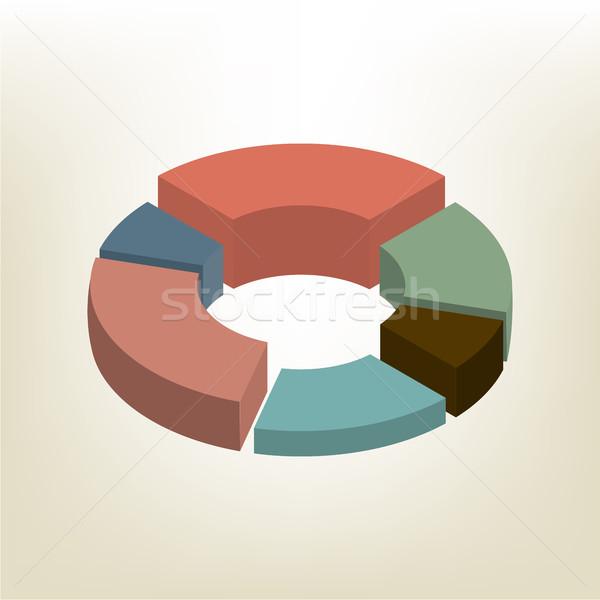 円グラフ アイソメトリック 孤立した 白 デザイン 要素 ストックフォト © kup1984