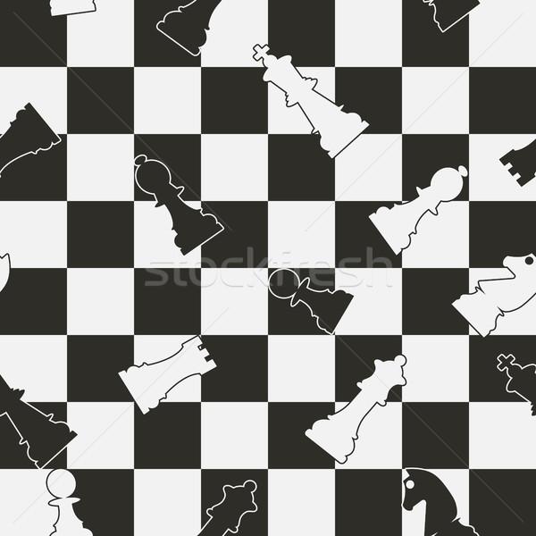 Senza soluzione di continuità scacchi bianco nero texture design Foto d'archivio © kup1984