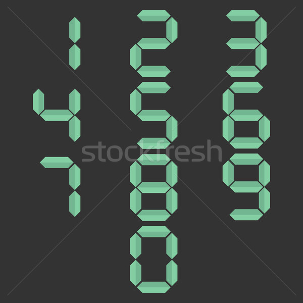 Paper numbers, vector illustration. Stock photo © kup1984