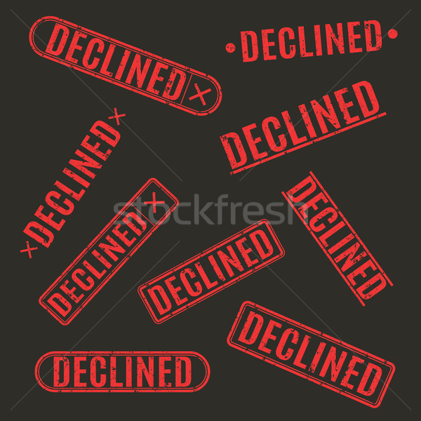 Set of stamps declined, vector illustration. Stock photo © kup1984