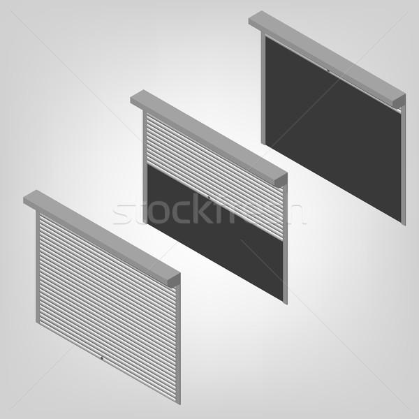 Acciaio sicurezza isometrica Windows porte Foto d'archivio © kup1984