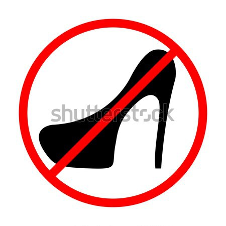 Icon prohibition shoes with heels, vector illustration. Stock photo © kup1984