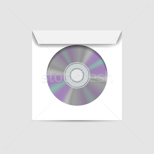 Zarf cd pencere beyaz gerçekçi içinde Stok fotoğraf © kup1984