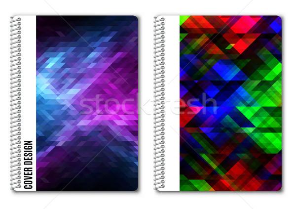 Modelo projeto impressão brilhante abstrato Foto stock © kup1984