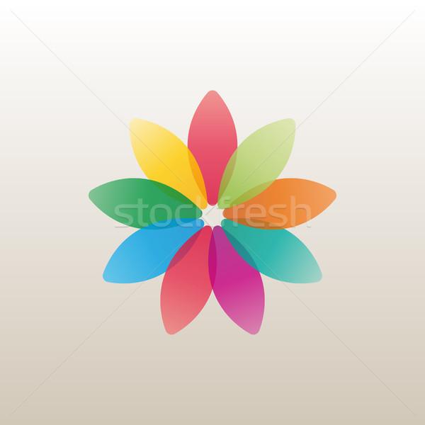 Logo-Design Vorlage Blume bud hellen Blütenblätter Stock foto © kup1984