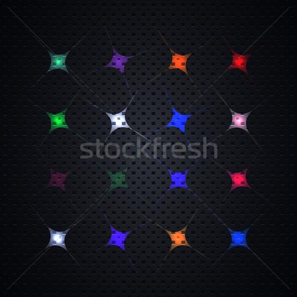 Brilhante efeitos de luz coleção preto modelo Foto stock © kup1984