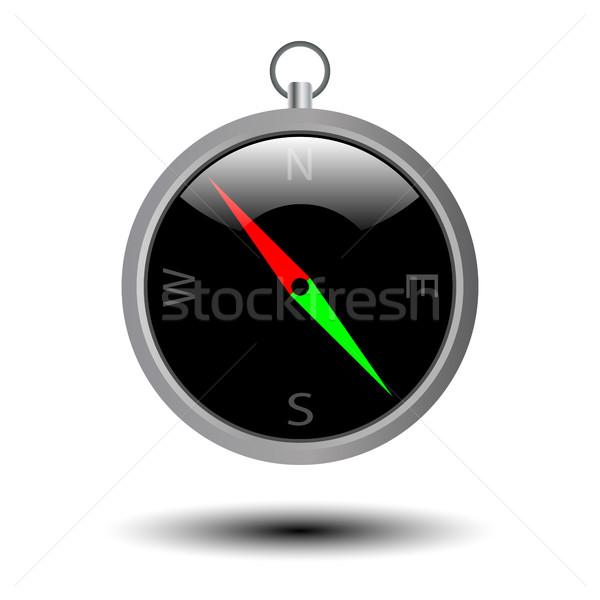 Bússola ícone aparelho pontos projeto mundo Foto stock © kup1984