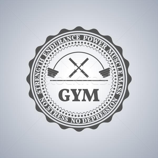 Sport logo grigio sport emblema etichetta Foto d'archivio © kup1984