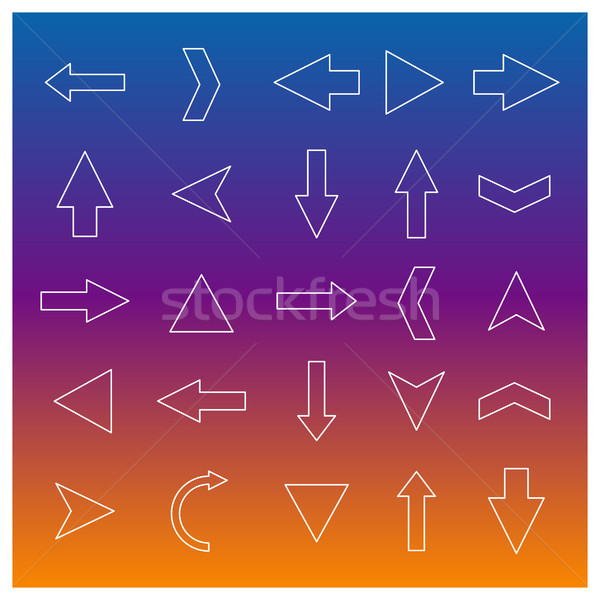 Set of linear arrow, vector illustration. Stock photo © kup1984