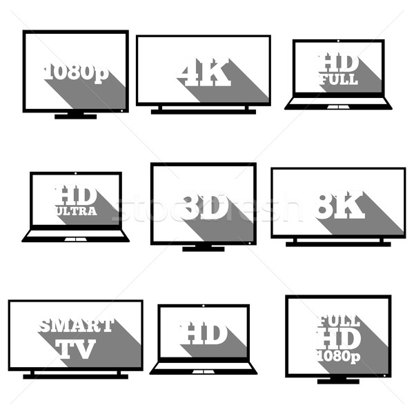 High definition icons, vector illustration Stock photo © kup1984