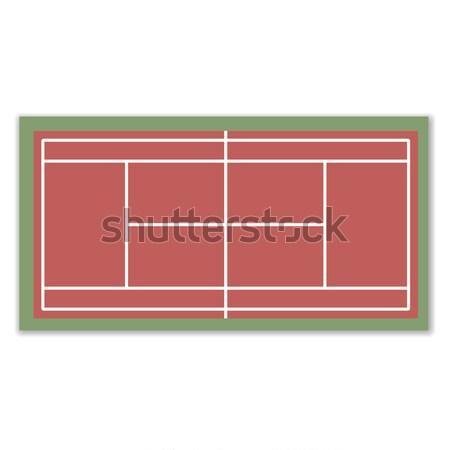 Campo tênis jogar projeto fundo verde Foto stock © kup1984