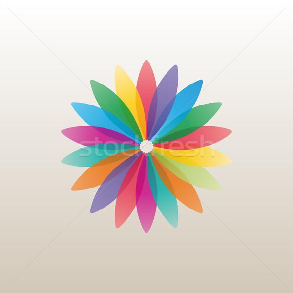 Logoterv sablon virág rügy fényes szirmok Stock fotó © kup1984