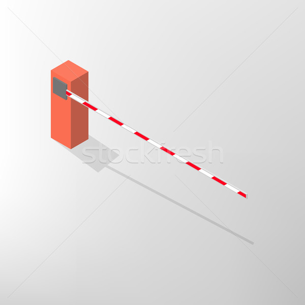 Barrier isometric, vector illustration. Stock photo © kup1984