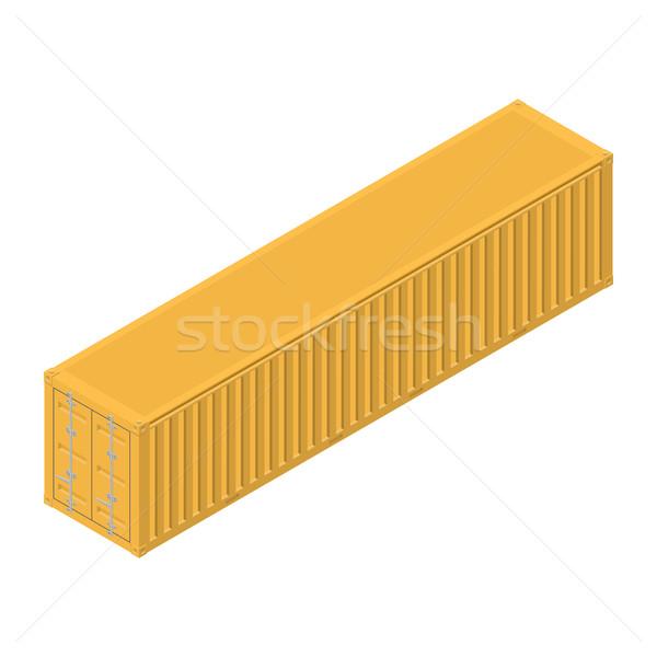 Stock fotó: Hosszú · tenger · konténer · izometrikus · teher · közlekedés