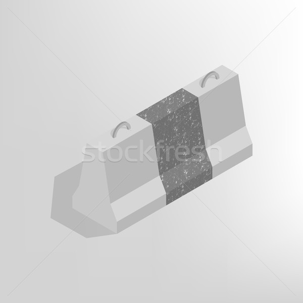 Iron concrete block isometric, vector illustration. Stock photo © kup1984