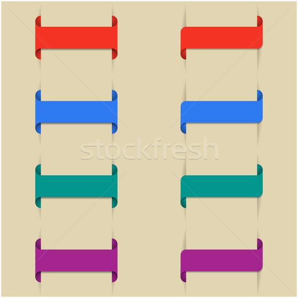 Ayarlamak renkli farklı ilk dizayn Stok fotoğraf © kup1984