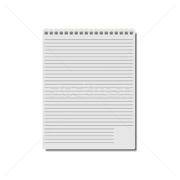 Notepad, vector illustration. Stock photo © kup1984