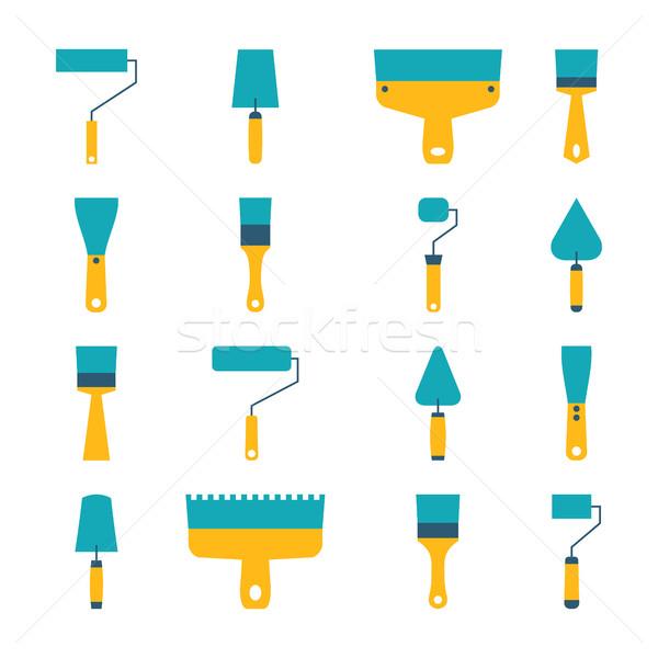 Zdjęcia stock: Zestaw · ikona · narzędzie · naprawy · budowy