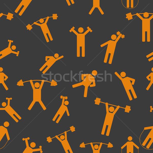 Seamless background with athletes, vector illustration. Stock photo © kup1984