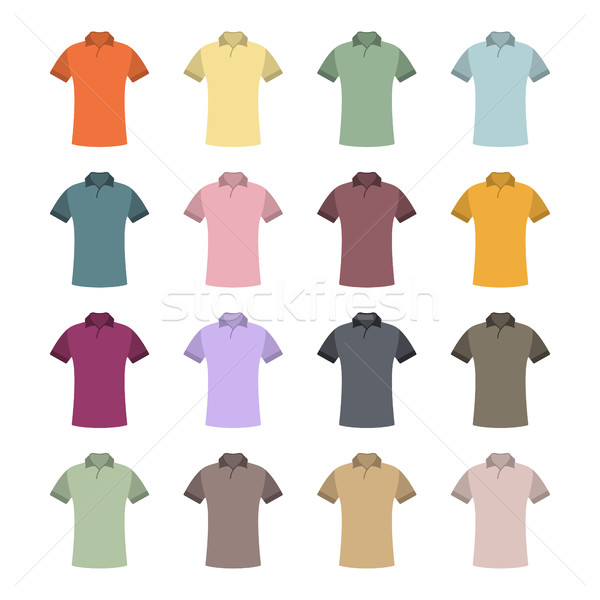 Set of colored t-shirts, vector illustration. Stock photo © kup1984