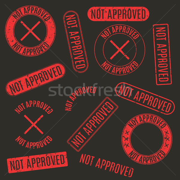 Set francobolli non approvato rosso rettangolare Foto d'archivio © kup1984