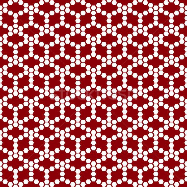 Vermelho branco geométrico azulejos Foto stock © kup1984