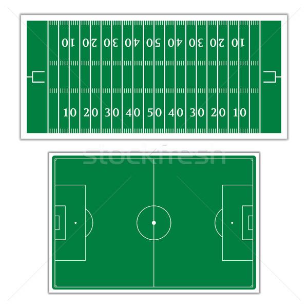 Field to play football, vector illustration. Stock photo © kup1984