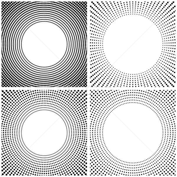 аннотация кадр набор четыре черно белые полутоновой Сток-фото © kup1984
