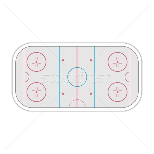 Dziedzinie hokej grać sportu internetowych kolor Zdjęcia stock © kup1984
