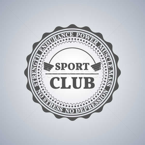 Sport logo, vector illustration. Stock photo © kup1984